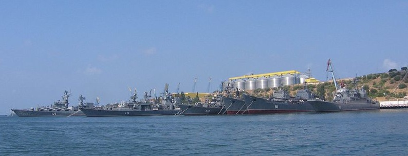 Russian Black Sea fleet at Sevastopol, for now.