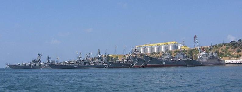 Russian Black Sea fleet at Sevastopol, for now.